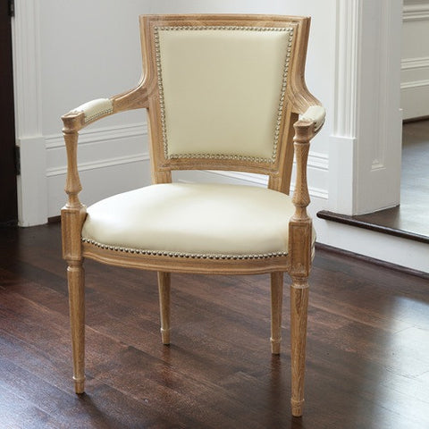 Marilyn Ivory Leather Dining Chair