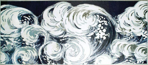 Waves Art-Silver leaf or Gold leaf - Natural Curiosities