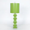Pagoda Table Lamp -Tall - Hot Pink
