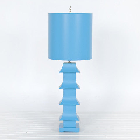 Pagoda Table Lamp - Tall - Turquoise