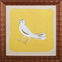 Art - Paule Marrot - White & Yellow - Bird