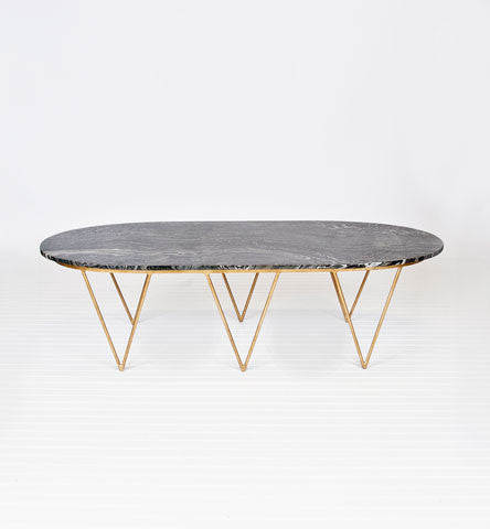 Surf Black Marble Top Coffee Table