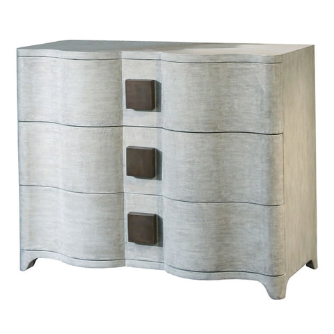 Toile Linen Chest of 3 Drawers
