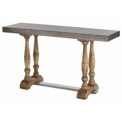 Winfield Metal Wood Console Table
