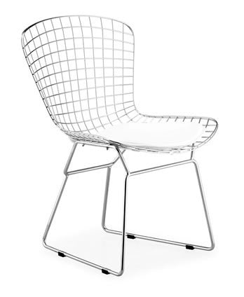 Wire Dining Chair -  with Seat Cushion