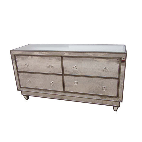 Simone Mirrored Dresser - Worlds Away