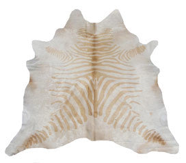 Zebra Cowhide - Light tan