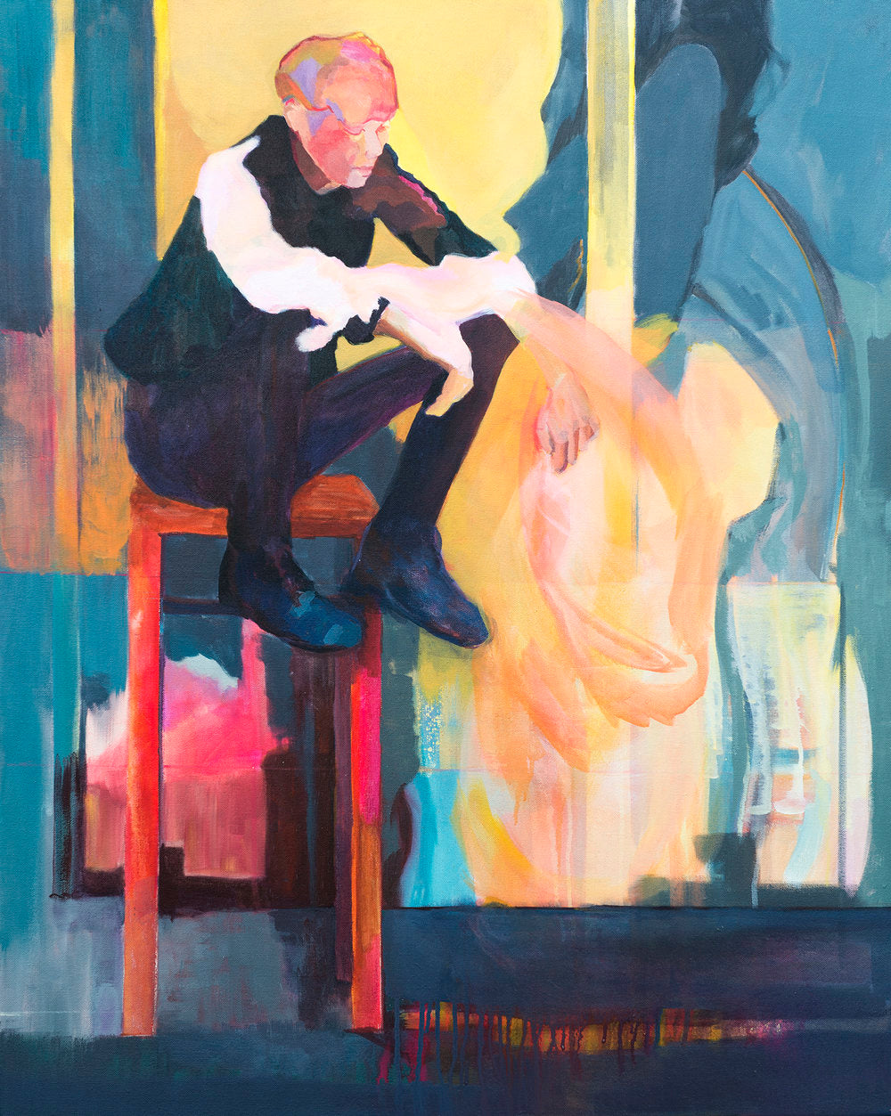 figurative art seated wall art