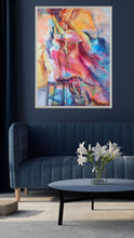 Load image into Gallery viewer, Melt down our house is on Fire with silver frame on dark blue wall