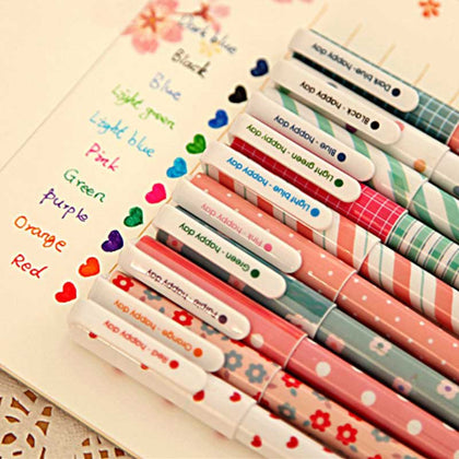 Color Pen Flower Animal Starry Star Sweet Flora Colored Gel Pen 0.5mm Cute pens for school - 99andco