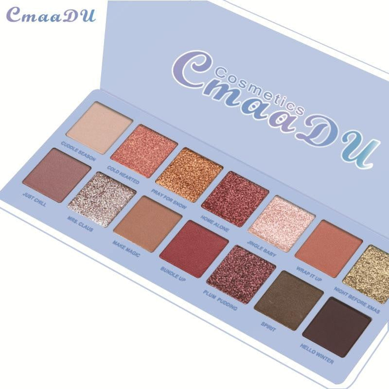14 Color Glitter Nude Shining Eyeshadow Palette