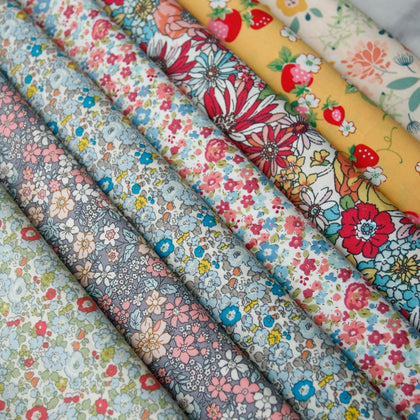 Pastoral Floral Plain Cotton Fabric - 99andco