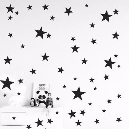 150pcs mixed size easy apply removable starry stars wall stickers - 99andco