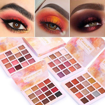 16 Colors Makeup Eyeshadow Palette Diamond Shimmer Glitter - 99andco