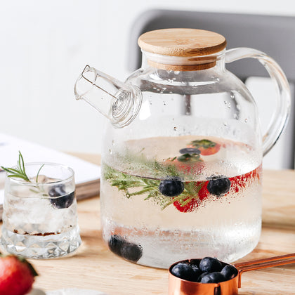 Transparent Borosilicate Glass Teapot Heat-Resistant - 99andco
