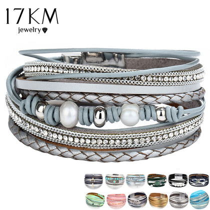26 Design Vintage Multiple Layer Leather Bracelet For Women Jewelry 99andco.myshopify.com
