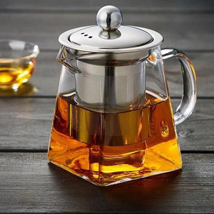 Glass Square Teapot High Temperature Resistant - 99andco