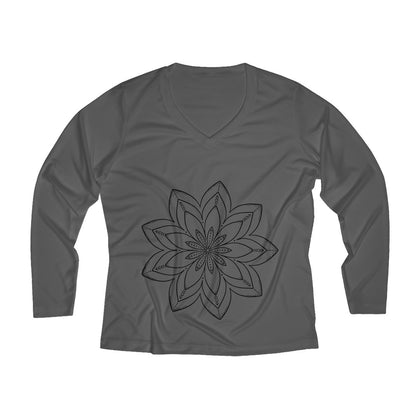 Women's Long Sleeve Performance V-neck Tee - 99andco