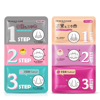 Face Care Nose Mask Remove Blackhead Acne Remover Clear Beauty Clean Cosmetic 3 Step Kit - 99andco