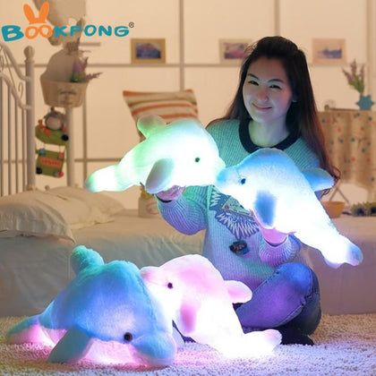 45cm Colorful Dolphin Plush Doll Toy Luminous - 99andco