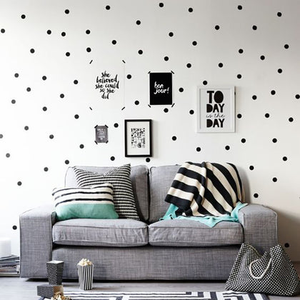 Black Dots Wall Stickers For Kids Room - 99andco