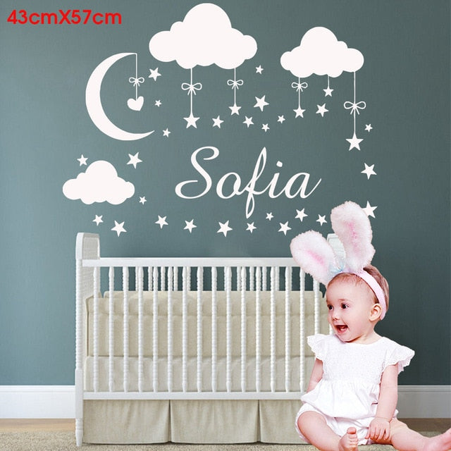 Cartoon Personalized Custom Name Mickey Mouse Wall Sticker