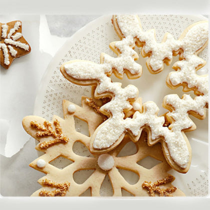 Cookie Moulds 3D Fondant Christmas Snowflake Biscuit Cutter - 99andco