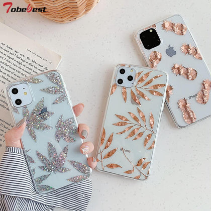 Electroplated Tree Leaf Phone Cases For iPhone - 99andco