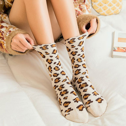 Fashion Women Leopard Print Socks - 99andco