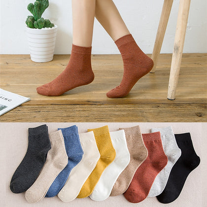 cotton socks autumn and winter  10pieces = 5 pairs - 99andco
