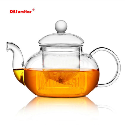 High quality Heat Resistant Glass Flower Tea Pot - 99andco