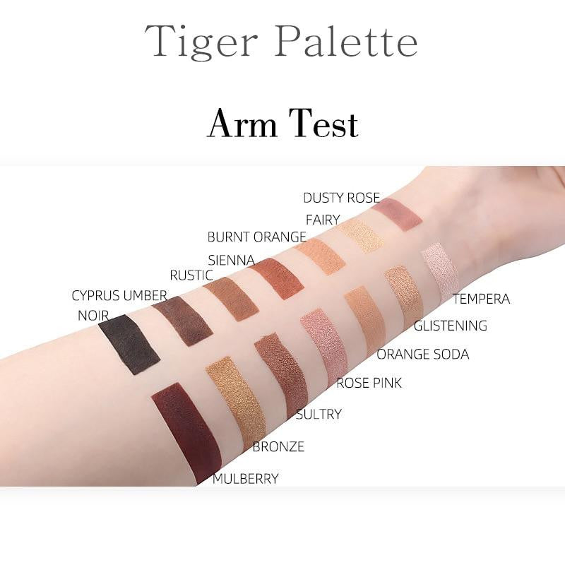14 Colors Tiger Eyeshadow Palette