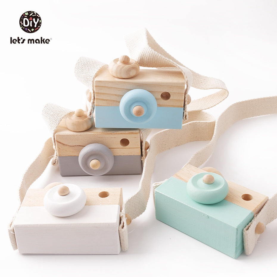 Wooden Baby Toys Fashion Camera