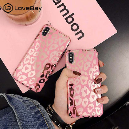 Lovebay Leopard Print Gold Phone Case Cover For Iphone - 99andco