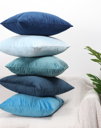 Luxury Blue  Velvet Cushion Cover Pillow - 99andco