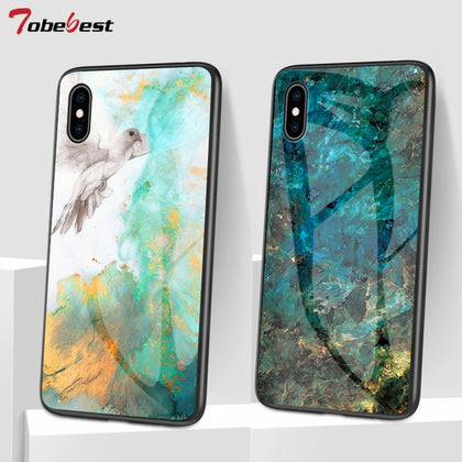 Luxury Marble Glass Phone Cases for iPhone - 99andco