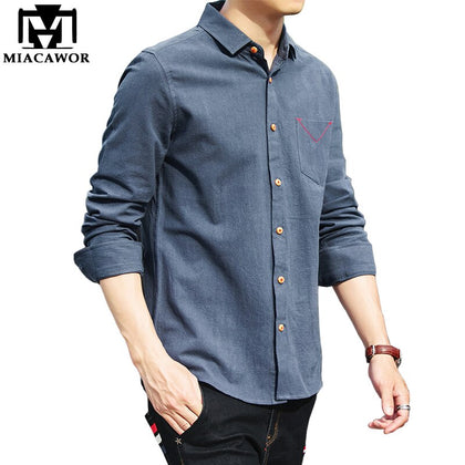 New Brand Fashion Solid Color Men Shirts - 99andco