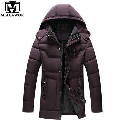 -20 Degree Warm Winter Jackets Coats Hooded Casual Man Outwear Windproof - 99andco