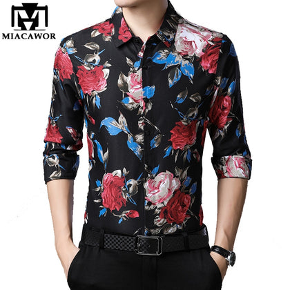 2020 Spring Mens Shirts Casual Slim Fit Long Sleeve - 99andco