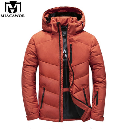 Down Jacket Men Warm Winter Jacket Hooded - 99andco