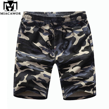 Cotton Men's Shorts Camouflage Streetwear - 99andco