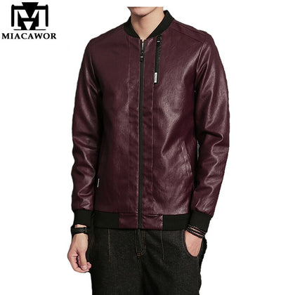 Fashion Leather Jacket Men - 99andco