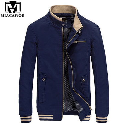 New Spring Autumn 100% Cotton Casual Men Jackets - 99andco