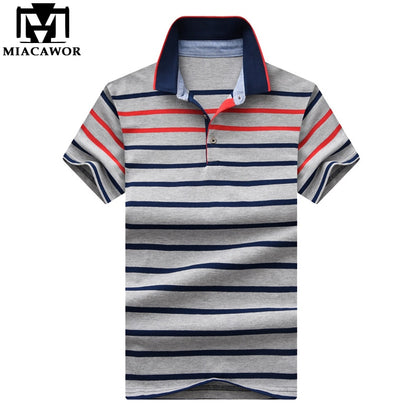 New Striped Men Cotton Short-sleeve - 99andco