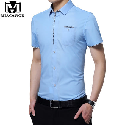 Summer Short Sleeve Men Casual Shirts - 99andco