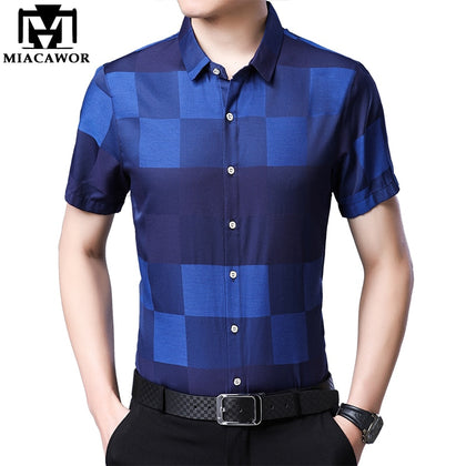 Men Summer Short Sleeve Casual Shirts Brand - 99andco