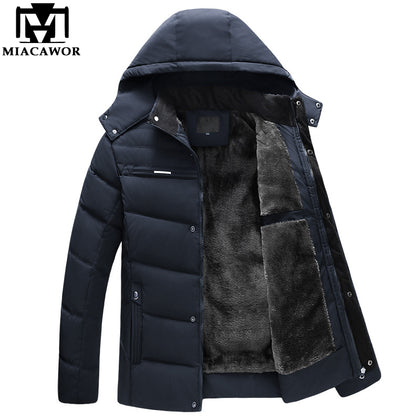 Winter Down Jacket Men Casual Hooded Men - 99andco