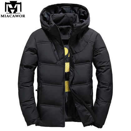 Winter Down Jacket Men Fashion Hooded - 99andco