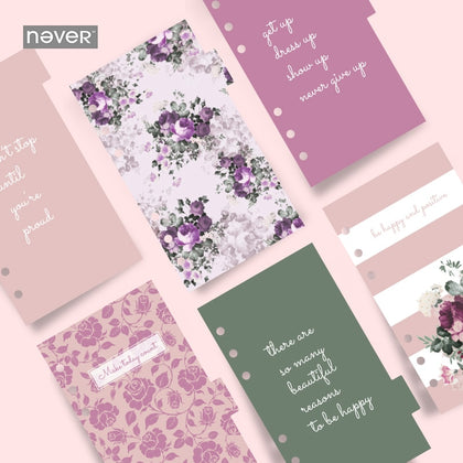 Rose flowers Diary Notebook A6 Spiral Planner Filler Paper - 99andco