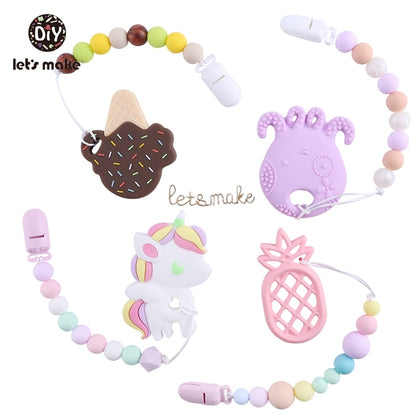 Pacifier Clips Teething Silicone Beads Making - 99andco